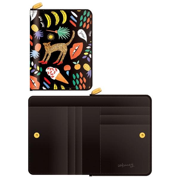 送料無料7321Design(7321デザイン) 可愛いギフトボックスに入った小銭入れ付ミニ財布/BBH/トロピカルジャングル(ブラック)】ホワイトデー