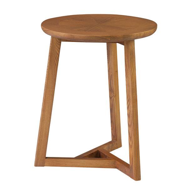 送料無料円形サイドテーブル/ミニテーブル 【直径40cm】 木製 ブラウン CL-330BR】お盆