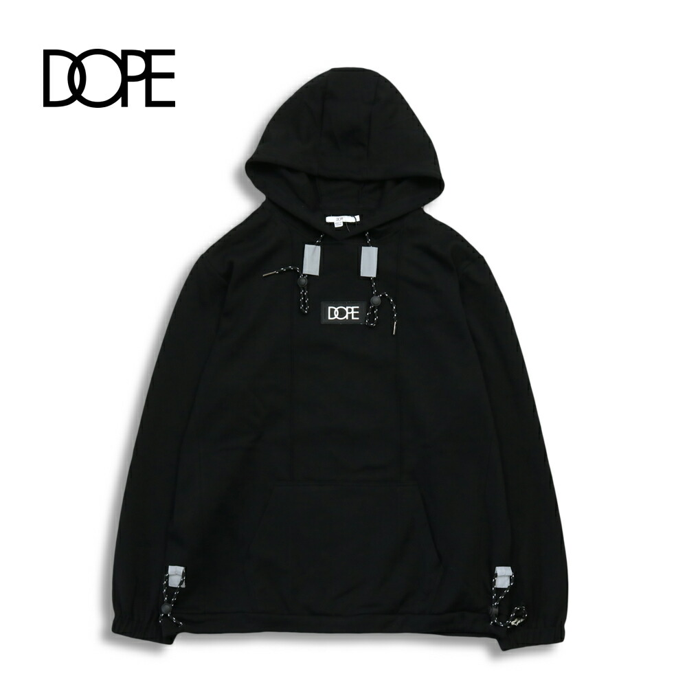 DOPE ドープ CORE-TECK PLEATED PULLOVER BLACK パーカー メンズ レディース dope couture dope sport M L XL
