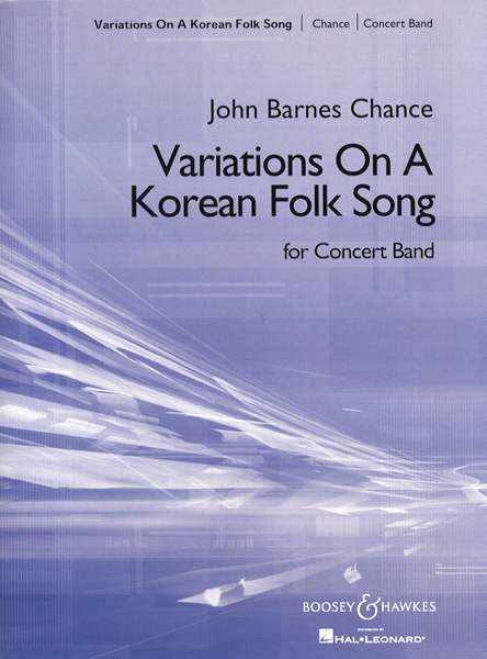 【取寄品】GYW00070154 チャンスJOHN BARNES朝鮮民謡の主題による変奏曲(吹奏楽)【楽譜】【沖縄・離島以外送料無料】