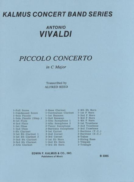 【取寄品】US65 輸入 ピッコロ協奏曲 (Piccolo) (A.リード改訂版)【楽譜】【沖縄・離島以外送料無料】