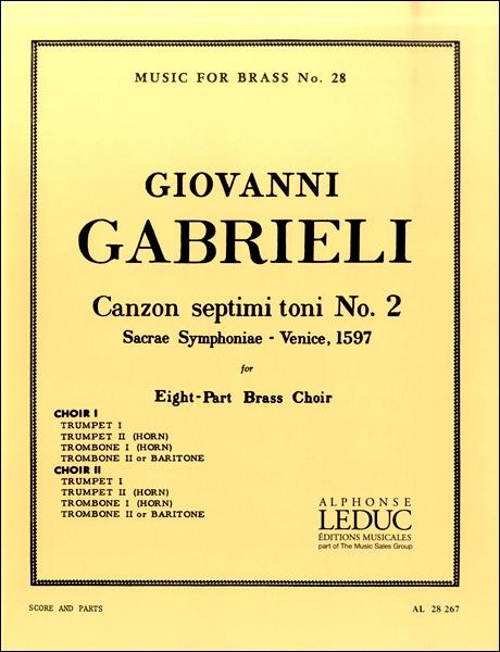 【取寄品】輸入Canzon septimi toni No.2/第7旋法のカンツォン 第2番(金管8重奏)【楽譜】【沖縄・離島以外送料無料】