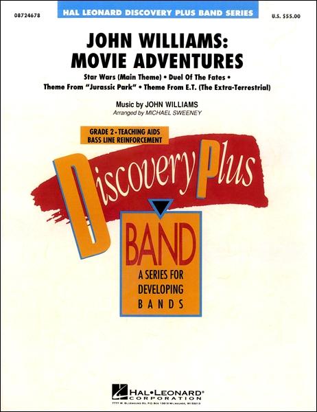 【取寄品】輸入John Williams : Movie Adventures/ジョン・ウィリアムズ:ムービー・アドベンチャーCD付【楽譜】【送料無料】【smtb-u】[音符クリッププレゼント]