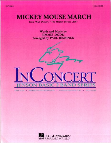 【取寄品】輸入Mickey Mouse March/ミッキーマウス・マーチ(P.ジェニングズ編)CD付【楽譜】【沖縄・離島以外送料無料】