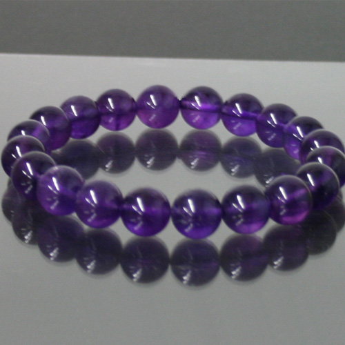 Amethyst Bracelet Stone 10mm Ball