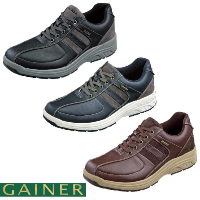 【送料無料】 靴 スニーカー メンズ ゲイナー003 ウォーキングシューズ 4E ストレッチ ジッパー付き ktgn012