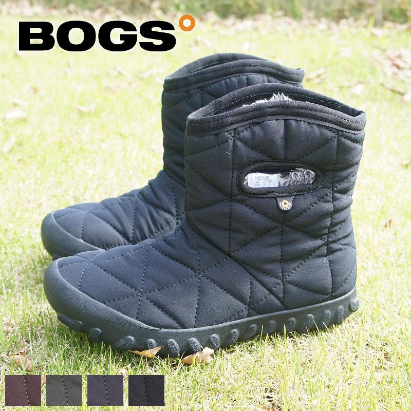 アメリカの老舗ブランドBOGS 送料無料 人気 ショートブーツ 売買 レディース B-MOC SHORT 防水 ファー ボア スノーブーツ シューズ 雪 靴 roybog78836 交換無料 あったかい BOGS ぺたんこ ボグス