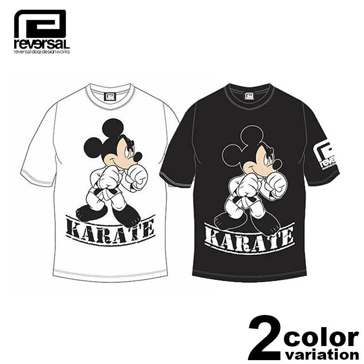 リバーサル REVERSAL Tシャツ 半袖 Mickey Mouse / KARATE TEE (reversal tシャツ ミッキー コラボ ホワイト ブラック rvMKY14aw001 ストリート)