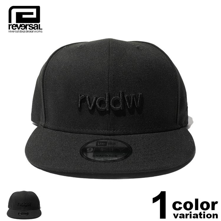 【reversal キャップ】 REVERSAL リバーサル キャップ スナップバック NEW ERA × rvddw BLACK rvddw 9FIFTY (1色) [RVNER014] 【reversal キャップ リバーサル ニューエラ REVERSAL NEW ERA 正規 帽子 スナップバック キャップ】【あす楽対応】