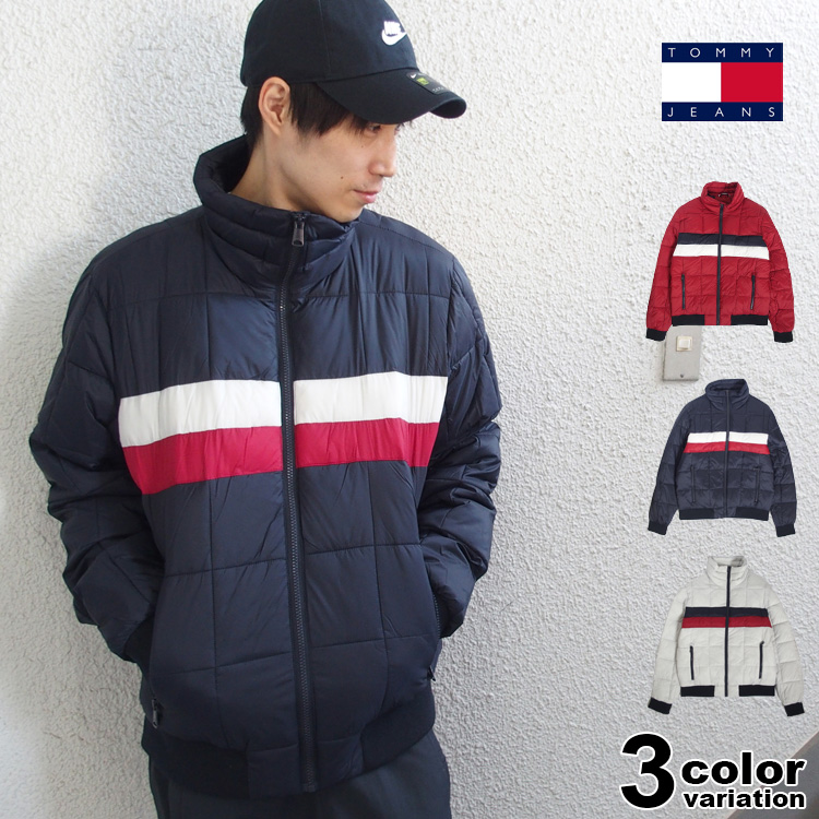 TOMMY HILFIGER トミー ヒルフィガー ナイロン 中綿 ジャケット Quilted Bomber Jacket (tommy ジャケット メンズ 158AN580 USAモデル) 【あす楽対応】