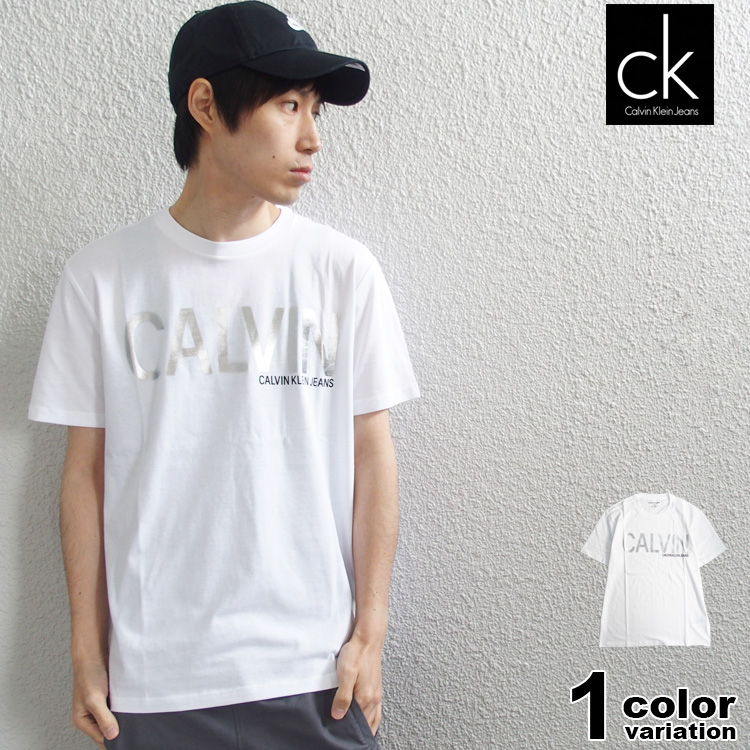 Calvin Klein Jeans カルバンクライン ジーンズ Tシャツ ブランドネーム ロゴ メンズ (calvin klein tシャツ トップス 41L7685) 【あす楽対応】