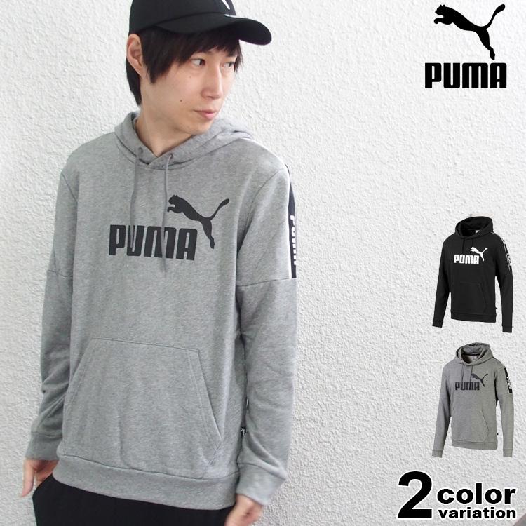 PUMA プーマ パーカー プルオーバー AMPLIFIED フーディ (puma パーカー スウェット ブラック グレー 580438) 【あす楽対応】