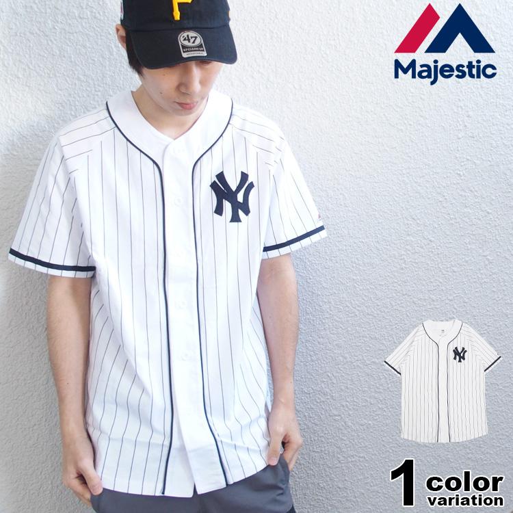 マジェスティック アスレティック ベースボールシャツ ニューヨーク ヤンキース (majestic tシャツ MM21-NY-9S07 New York Yankees) 【あす楽対応】