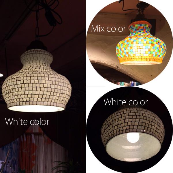 【送料無料】モザイクランプ ステンドランプ ハンドワークランプ 手作り 天井照明 モロッコ風 照明 インテリア ライト 吊り下げタイプ 100W相当 LEDライト対応 ランプ インド【ご発送まで2~3日営業日必要です】