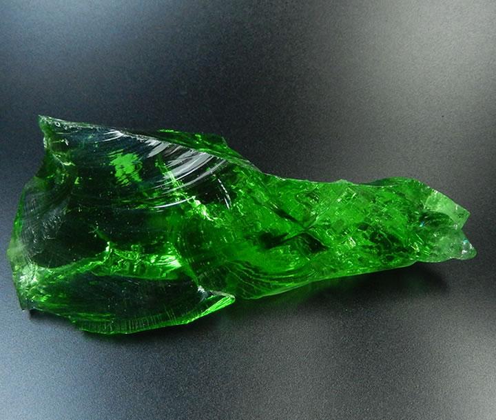 アンダラクリスタル ハイヴァイブレーションルミネッセントダークグリーン199g/最長127mm★稀少なオールドストック★ネリーランドの巨大な緑のドラゴンヘッドandarahg101