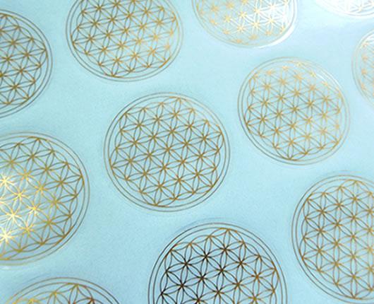 フラワーオブライフ36mmシール 高級 6枚分 神聖幾何学図形 ステッカー 春の新作続々 folst002