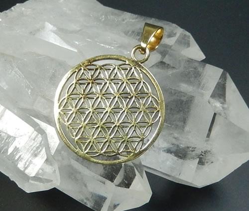 フラワーオブライフ ゴールドカラー 限定タイムセール ペンダント 伝説のオリハルコンと目される金属 fol030 黄銅 オルゴナイト作りに 大幅値下げランキング 真鍮