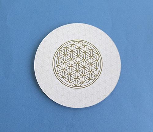 フラワーオブライフ 直送商品 コースター 丸型 直径10cm fol105 お買い得品 神聖幾何学図形