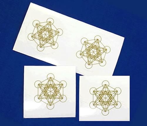 Bタイプ メタトロンキューブ35mmシール 4枚分 神聖幾何学図形 新商品 贈答 新型 folst013 ステッカー