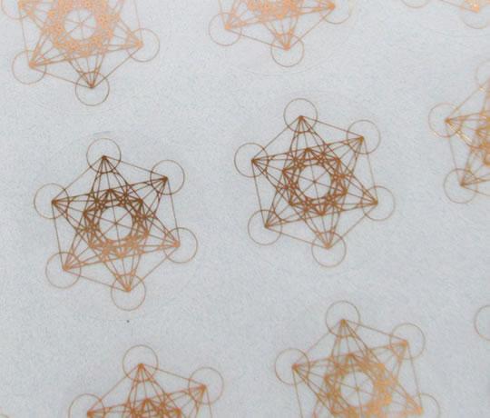 メタトロンキューブ25mmシール 大放出セール 24枚分 神聖幾何学図形 激安挑戦中 ステッカー folst020