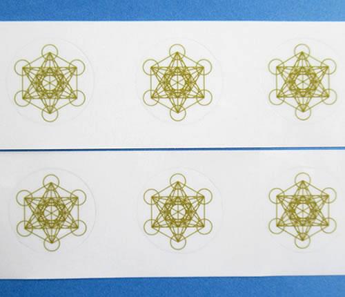 【9/18-21 09:59 10%OFFクーポン】【Bタイプ】メタトロンキューブ25mmシール 6枚分 神聖幾何学図形 ステッカー folst016