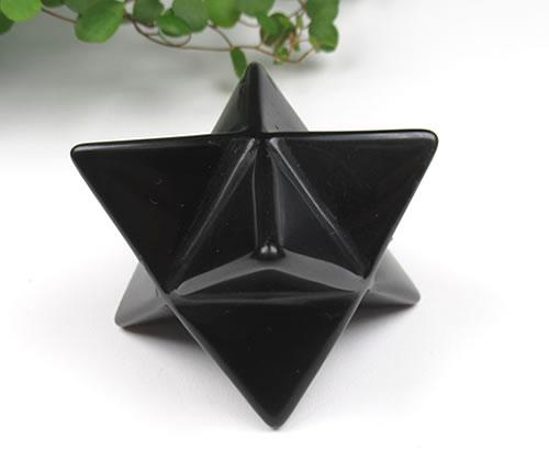 ブラックオブシディアン マカバ 63mm 82g 意識を通して創造される光の幾何学フィールド 光のアセンションへの乗り物 obsima001