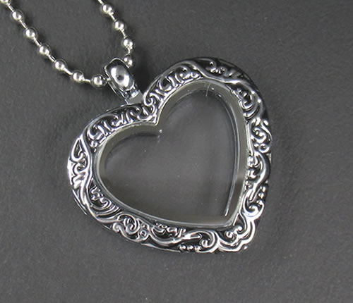 da84bf6e344 Put a floating rocket antique heart (with the chain) 316L stainless steel  small stone ...