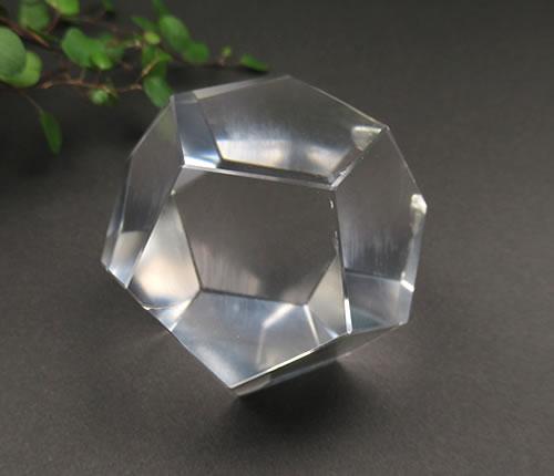 高品質 ブラジル産 水晶 正十二面体 50mm 意識を通して創造される光の幾何学フィールド 光のアセンションへの乗り物 q12001