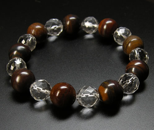 'Stone of strength, stamina, courage, healing' tiger iron 12 mm & 10 mm  Crystal bracelet natural stone stone B1tigeriron002