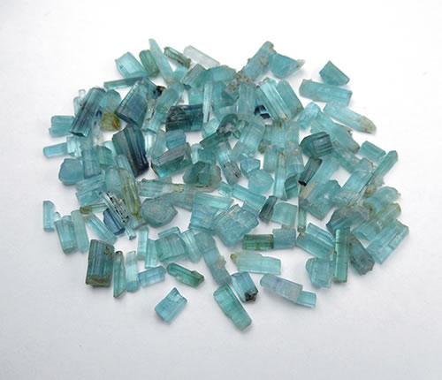 高品質 インディゴライト結晶 ブルーグリーントルマリン1.5g結晶セット5~15mm 期間限定お試し価格 torin051 大天使ラジエルの宝石 非加熱未処理 マート