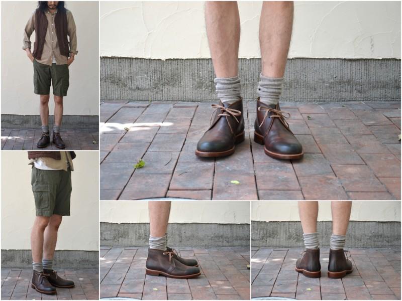 MOTO(모트)/Cordovan Chukka Boots -Brown-