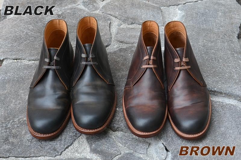 MOTO (모토)/Cordovan Chukka Boots-Black-