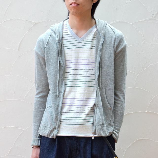 V::room(ヴィルーム)/LINEN ESTER JERSEY L/S ZIP HOODY -grey- 【Z】