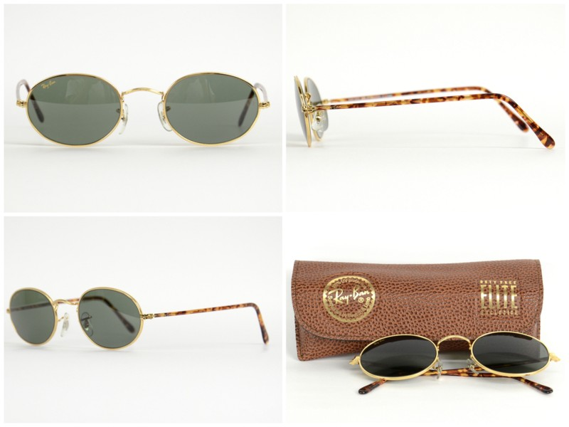 B & L Ray-Ban (Bausch and Lomb, Ray-Ban) /OVAL ELITE (oval-elite) - Arista gold /G15 -