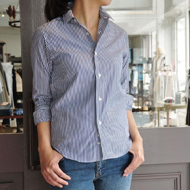 INDIVIDUALIZED SHIRTS(インディビジュアライズドシャツ)/ BENGAL STRIPE LADIES JAN SHIRT(NAVY)