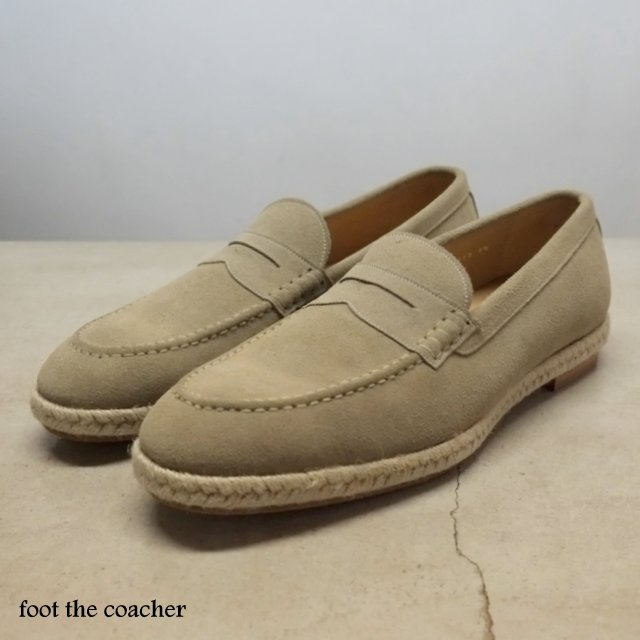 foot the coacher(フット ザ コーチャー)/COIN LOAFER(ESPADRIILE) -LIGHT BEIGE-