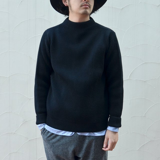 ANDERSEN-ANDERSEN(アンデルセン アンデルセン)/SAILOR SWEATER (CREW NECK) -BLACK-