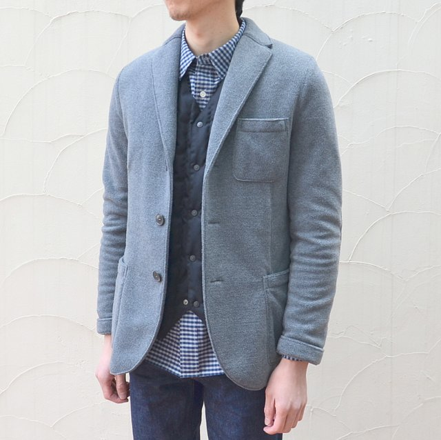 Harris Wharf London(ハリスワーフロンドン)/ Man Jacket Polaire -(140)middle grey-