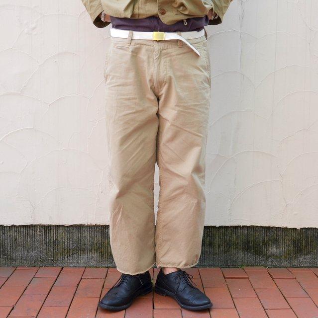 MASTER&Co.(マスターアンドコー)/CUTOFF CHINO PANTS with BELT -(82)BEIGE-
