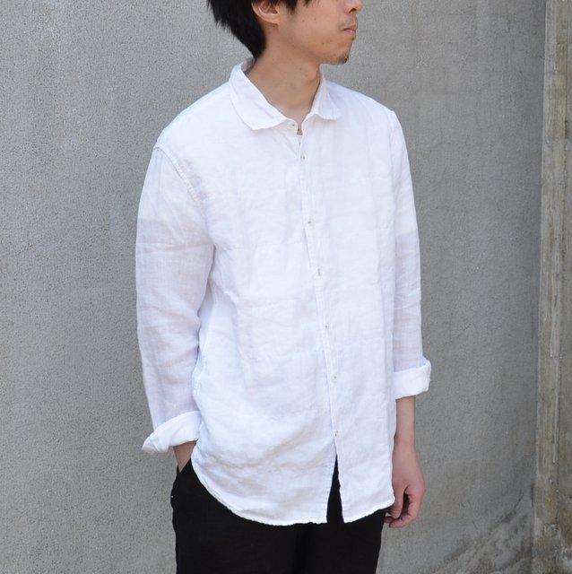 CASEY CASEY(ケーシーケーシー)/ CASHCOT LINEN SHIRTS -WHITE-