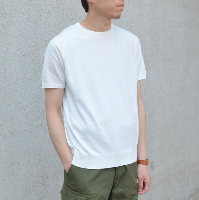 EEL(イ―ル)/Allways Knit 1/2 -(11)WHITE-