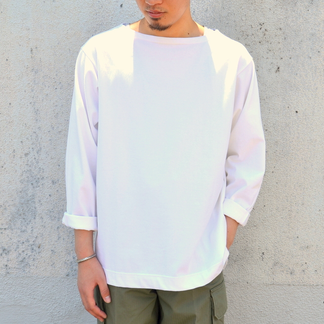 TATAMIZE(タタミゼ)/ Boatneck Shirt -WHITE-