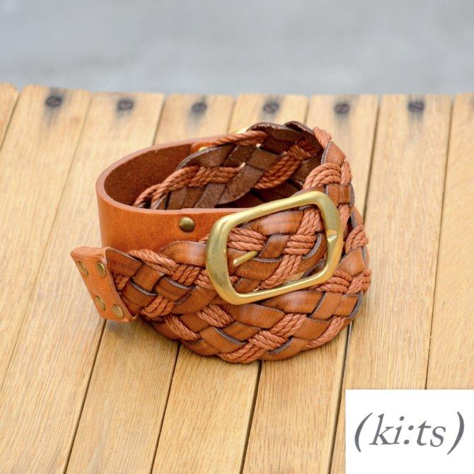 ki:ts(キーツ)/ Mesh Belt -TAN-