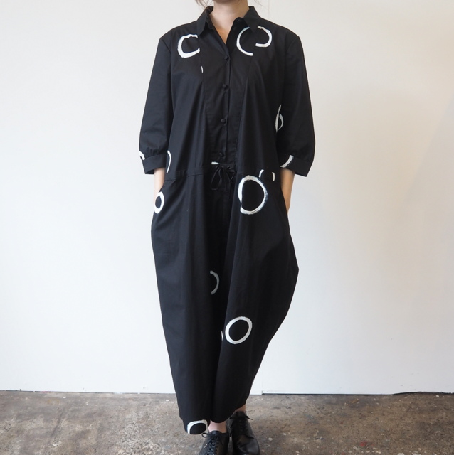 CABINET(キャビネット)/COTTON JUMPSUIT WITH PAINTING