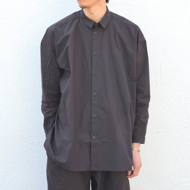too good(トゥーグッド) / THE DRAUGHTSMAN LONG COTTON PERCALE SHIRT -SOOT-