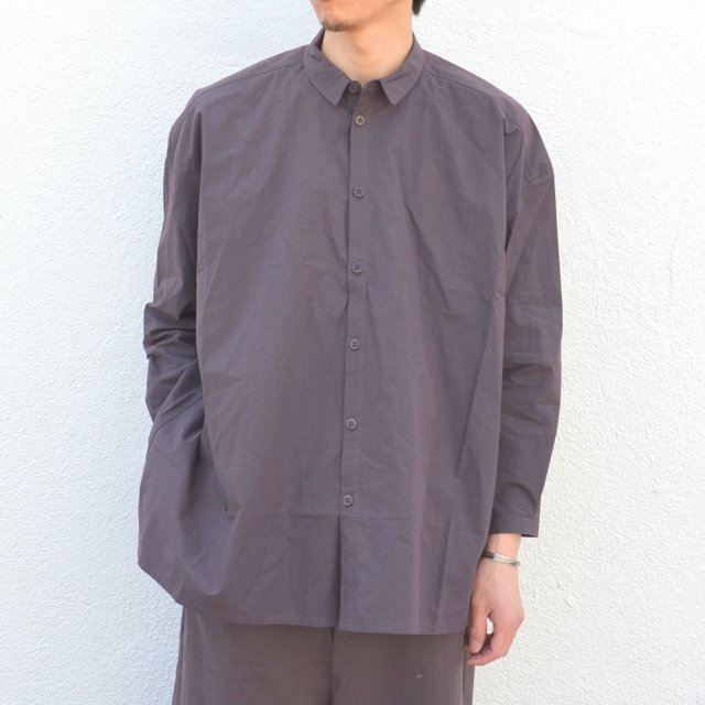 too good(トゥーグッド) / THE DRAUGHTSMAN LONG COTTON PERCALE SHIRT -SLATE-