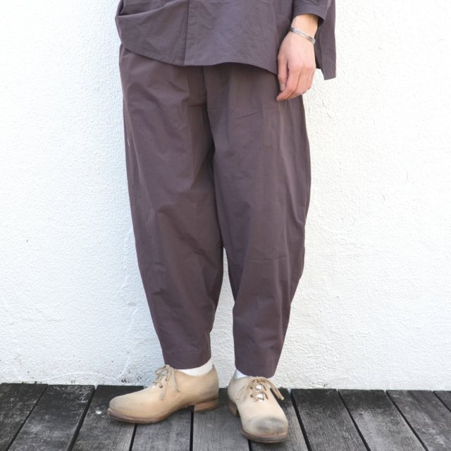 too good(トゥーグッド) / THE ACROBAT TROUSER COTTON PERCALE -SLATE-