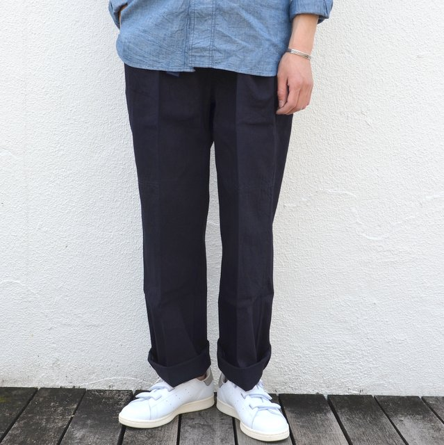 chimala(チマラ)/10OZ INDIGO X BLACK WEFT DENIM RAILROAD PANTS(UNISEX) -INDIGO-