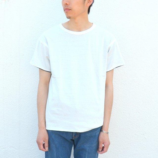 YOUNG & OLSEN(ヤングアンドオルセン)/ RV HOOP TEE -WHITE/NAVY-