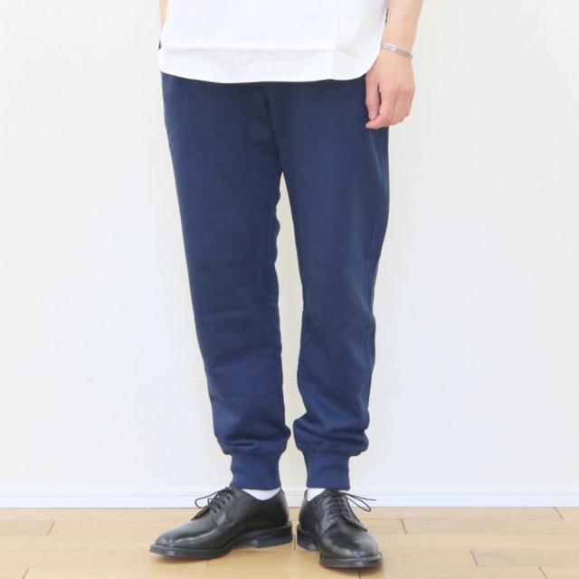 Merz b. Schwanen(メルツ・ベー・シュヴァーネン)/ sweat pant with fly -ink blue-